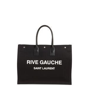 Saint Laurent Noe Rive Gauche Logo Canvas Tote in Noir/Blanc at Nordstrom