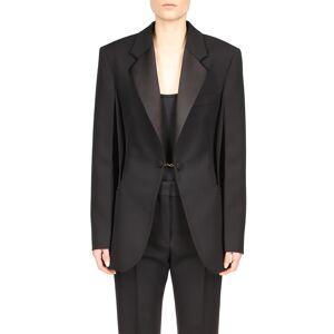 Givenchy Big Shoulder Tuxedo Jacket, Size 4 Us in Black at Nordstrom