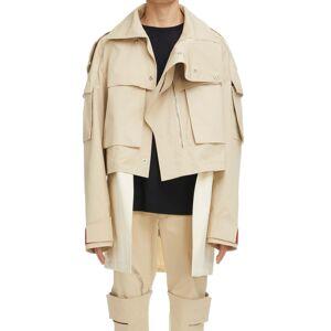 Men's Givenchy Oversize Crop 2-In-1 Parka, Size 36 US - Beige
