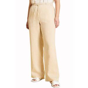 Marina Rinaldi Plus Size Women's Marina Rinaldi Recanati Wide Leg Linen Pants, Size 18W - Black