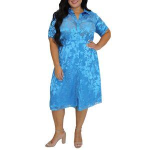 Maree Pour Toi Plus Size Women's Maree Pour Toi Floral Shirtdress, Size 18W - Blue