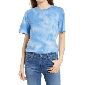 JEANERICA Women's Jeanerica Tie Dye Organic Cotton T-Shirt, Size X-Small - Blue