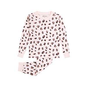 Infant Girl's Petit Lem Leopard Spot Organic Cotton Fitted Two-Piece Pajamas, Size 12M - Pink