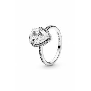 PANDORA Women's Pandora Radiant Teardrop Cubic Zirconia Ring