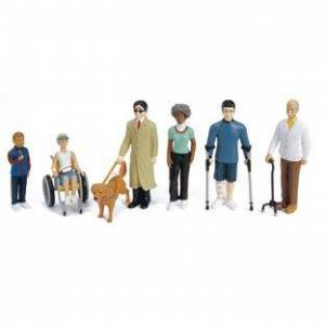 Excellerations[r] Differently Abled Block Play Figures  Set of 6 by Excellerations[r]