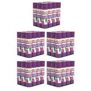 Colorations 60 Colorations Best Value Washable Purple Glue Sticks Large 88 oz by Colorations