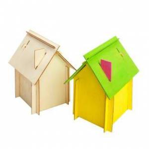 Colorations Easy Build House Set of 6 by Colorations