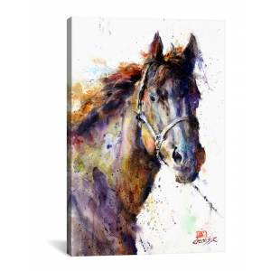 iCanvas Horse III by Dean Crouser   - Size: 26 x 18 x 0.75