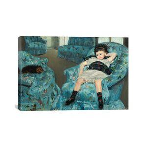 "iCanvas Little Girl In A Blue Armchair, 1878 by Mary Stevenson Cassatt   - Size: 18"" x 26"""