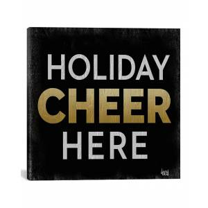 "iCanvas Santa Cheer II by hartworks Canvas Artwork   - Size: 26"" x 26"""
