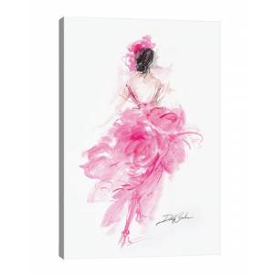 iCanvas Glam Girl Parisian Pink Canvas Art Print   - Size: 18x26