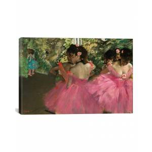 """iCanvas Ballerina In Red by Edgar Degas   - Size: 26"""" x 18"""""""