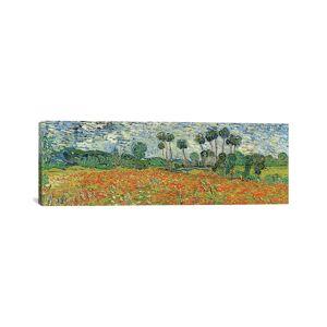 "iCanvas Field Of Poppies, Auvers-sur-Oise, 1890 by Vincent van Gogh Canvas Reproduction   - Size: 12"" x 36"""