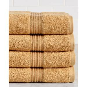 Superior Set of 4 Premium Combed Egyptian Cotton Bath Towels   - Size: 4pc set