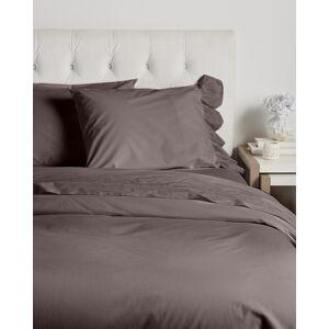 Boho Bed Voile Ruffle Duvet Set Slate   - Size: King