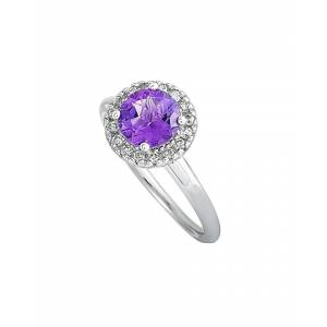 14K 1.45 ct. tw. Diamond & Amethyst Ring   - Size: 7.25