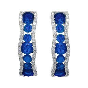 Diana M. Fine Jewelry 14K 1.45 ct. tw. Diamond & Sapphire Earrings   - Size: NoSize