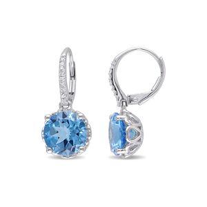 Rina Limor 10K 6.09 ct. tw. Diamond & Swiss-Blue Topaz Earrings   - Size: NoSize