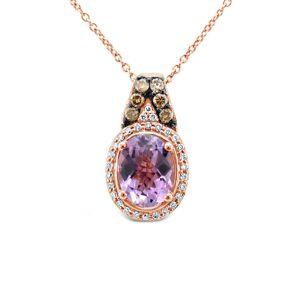 Le Vian 14K Rose Gold 2.40 ct. tw. Diamond & Amethyst Necklace   - Size: NoSize