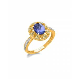 Kallati 14K Two-Tone 1.45 ct. tw. Diamond & Tanzanite Ring   - Size: 7