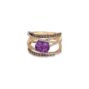 Le Vian 14K 1.73 ct. tw. Diamond & Amethyst Ring   - Size: 7