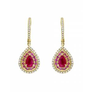 Diana M. Fine Jewelry 14K Gold 0.73 ct. tw. Diamond & Sapphire Earrings   - Size: NoSize