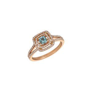 Le Vian 14K Rose Gold 0.81 ct. tw. Diamond & Aquamarine Ring   - Size: 7