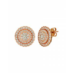 Le Vian? Creme Brulee? 14K Strawberry Gold 1.45 ct. tw. Diamond Earrings   - Size: NoSize
