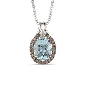 Le Vian? 14K Vanilla Gold 1.63 ct. tw. Aquamarine Pendant Necklace   - Size: NoSize
