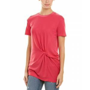 rag & bone Marina Drape Top  -Pink - Size: 2X-Small