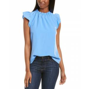 Sail to Sable Ruffle Top   - Size: 2X-Small