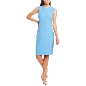St. John Classic Sheath Dress  -Blue - Size: 0