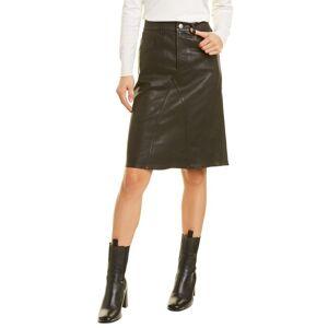 Isabel Marant Etoile Fiali Leather Skirt  -Black - Size: 42
