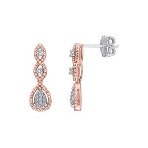Diamond Select Cuts 14K Two-Tone 0.23 ct. tw. Diamond Earrings   - Size: NoSize