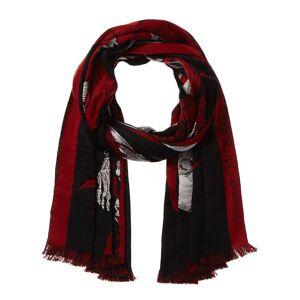 Alexander McQueen Silhouette Floral Wool & Silk-Blend Scarf   - Size: NoSize