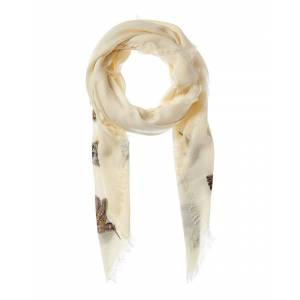 Alexander McQueen Hummingbird Wool & Silk-Blend Scarf   - Size: NoSize