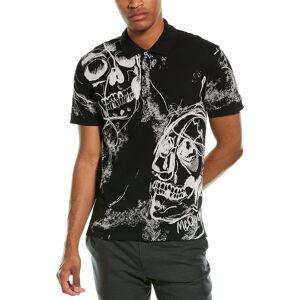 Alexander McQueen Skull Print Polo Shirt  -Black - Size: Small