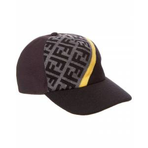 FENDI Wool Baseball Hat  -Black - Size: One Size