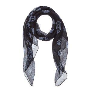 ALEXANDER MCQUEEN Skull Print Silk Scarf   - Size: NoSize