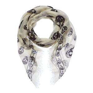 Alexander McQueen Skull Silk-Blend Scarf   - Size: ns