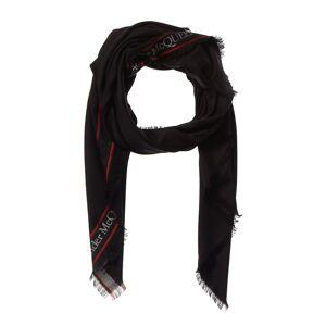 Alexander McQueen Wool & Silk-Blend Selvedge Scarf   - Size: NoSize