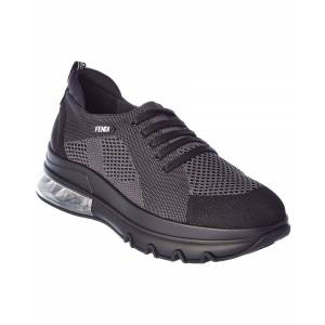 FENDI Mesh Sneaker  -Black - Size: 42.5