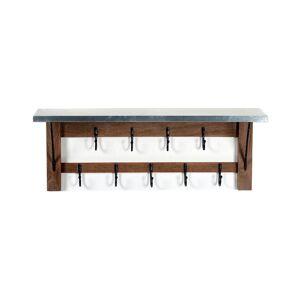 Alaterre Millwork 40in Double Row Hook Shelf - Wood/Zinc  -Brown - Size: NoSize