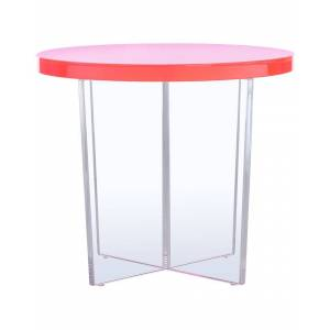 Safavieh Couture Edwards Acrylic Accent Table  -Pink - Size: NoSize