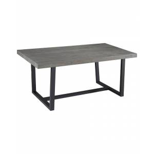 """Hewson 72in Distressed Solid Wood Dining Table   - Size: 72"""""""