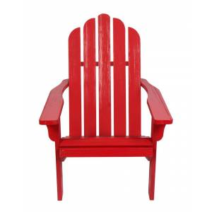 Shine Co. Adirondack Chair With Hydro-Tex Finish  -Red - Size: NoSize