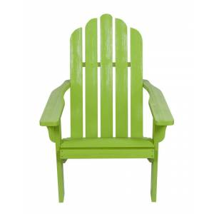 Shine Co. Adirondack Chair With Hydro-Tex Finish  -Green - Size: NoSize