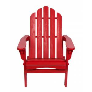Shine Co. Adirondack Folding Chair With Hydro-Tex Finish  -Red - Size: NoSize