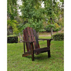 Shine Co. Marina Adirondack Chair  -Brown - Size: NoSize
