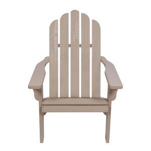 Shine Co. Adirondack Chair With Hydro-Tex Finish  -Grey - Size: NoSize